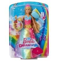 Mattel - Barbie Dreamtopia Regenbogen-Königreich Magische Haarspiel-Prinzessin