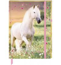 Coppenrath Verlag - Pferdefreunde - Notizbuch mit Stoffeinband - Meine Notizen
