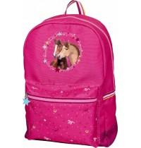 Die Spiegelburg - Pferdefreunde - Rucksack (pink, mit Glimmer+ Stickerei)
