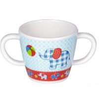 Die Spiegelburg - BabyGlück - Melamin-Tasse mit 2 Henkeln - Motiv Elefant