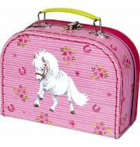 Die Spiegelburg - Mein kleiner Ponyhof - Spielkoffer (weißes Shetlandpony)