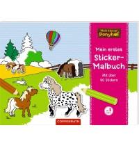 Coppenrath Verlag - Mein kleiner Ponyhof: Mein erstes Sticker-Malbuch