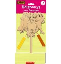 Coppenrath Verlag - Mein kleiner Ponyhof - Holzponys zum Bemalen
