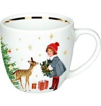 Die Spiegelburg - Schöne Weihnachtszeit! Porzellan-Tasse Weihnachtskinder