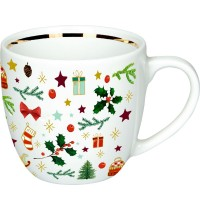 Die Spiegelburg - Schöne Weihnachtszeit! Porzellan-Tasse All Over