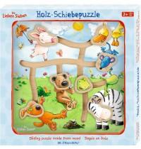 Die Spiegelburg - Die Lieben Sieben - Holz-Schiebepuzzle Ausflug ins Grüne