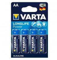 "VARTA Mignon 4B """"AA"""" LONGLIFE Power - Blisterverpackung, 4 Stück"