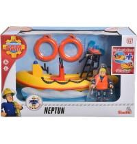 Simba - Feuerwehrmann Sam - Sam Neptune, Boot mit Figur