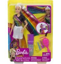 Mattel - Barbie - Regenbogen-Glitzerhaar Puppe blond