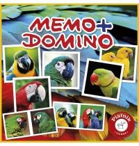 Piatnik - Memo + Domino Papageien