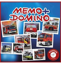 Piatnik - Memo + Domino Feuerwehr