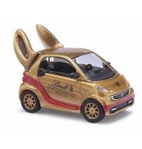 Busch Modellbahnzubehör - Smart Fortwo 2012 Lindt, Goldhase