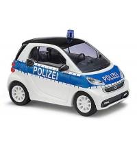 Busch Modellbahnzubehör - Smart Fortwo Coupé 2012 Polizei