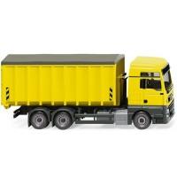 Wiking - Abrollcontainer MAN TGX Euro 6c/Meiller - zinkgelb