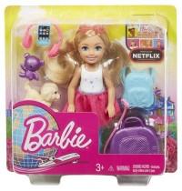 Mattel - Barbie Reise Chelsea Puppe und Zubehör