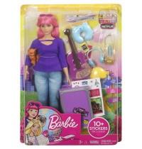 Mattel - Barbie Reise Puppe, pink und Zubehör