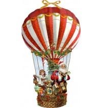Coppenrath Verlag - Wand-Adventskalender (Behr) - Weihnachtsballon