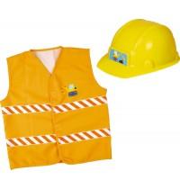 Die Spiegelburg - Kleine Freunde - Verkleidungsset Bauarbeiter (Helm+Weste)