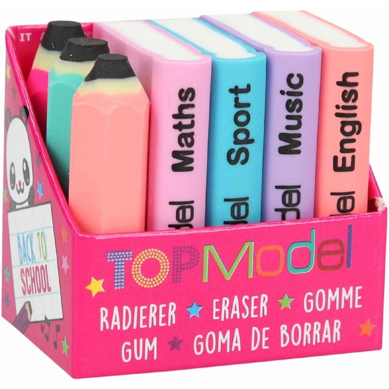 Depesche - TOPModel - Radierer-Set Mini Schulbücher und Stifte