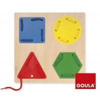 Jumbo Spiele - Fädelspiel Geometrische Formen