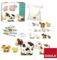 Jumbo Spiele - Holz-Fädelspiel Tiermütter und -kinder