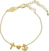 Coppenrath Verlag - Armband Glaube-Liebe-Hoffnung, vergoldet