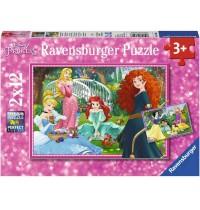 Ravensburger Puzzle - In der Welt der Disney Prinzessinnen, 2x12 Teile
