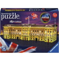 Buckingh.Palace Night Edit 3D Puzzle-Bauwerke