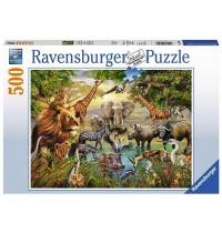 Ravensburger Puzzle - Am Wasserloch, 500 Teile