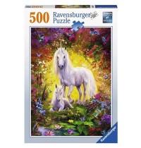 Ravensburger Puzzle - Einhorn mit Fohlen, 500 Teile