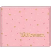 Babyalbum Willkommen, rosa BabyGlück