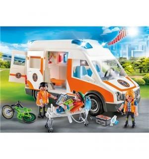 PLAYMOBIL 70049 Rettungswagen mit Licht und Sound City Life