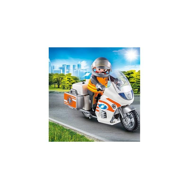 PLAYMOBIL 70051 City Life Notarzt Motorrad mit Blinklicht_PLAYMOBIL®_4008789