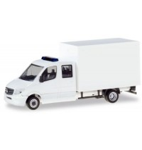 Herpa - Minikit Mercedes-Benz Sprinter Doppelkabine mit Koffer, weiß