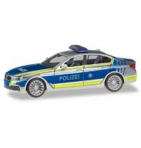 Herpa - BMW 5er Limousine G30 Lotsenfahrzeug Polizei München