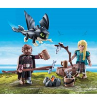 PLAYMOBIL 70040 - Dragons - Hicks und Astrid Spielset