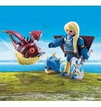 PLAYMOBIL 70041 - Dragons - Astrid mit Fluganzug und Hobgobbler