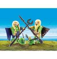 PLAYMOBIL 70042 - Dragons - Raffnuss und Taffnuss mit Fluganzug