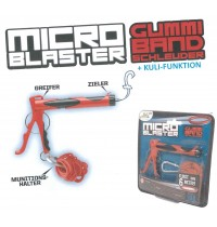 Gummiband Schleuder Micro Blaster mit Kuli-Funktion