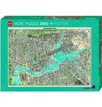 Heye - Standardpuzzle - City of Pop, 3000 Teile