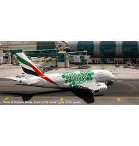 A380 Emirates Expo 2020 green