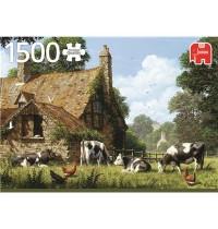 Jumbo Spiele - Kühe auf einem Bauernhof - 1500 Teile