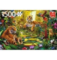 Jumbo Spiele - Tigerfamilie im Dschungel - 1500 Teile