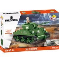 500 PCS WOT M4 SHERMAN COBI SMALL ARMY /3007A/ WOT M4 SHERMAN