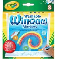 Crayola - 8 auswaschbare Fensterfilzstifte