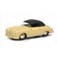 Schuco - Porsche 356 Gmünd Cabriolet geschlossen, beige, 1:43