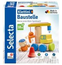 Schmidt Spiele - Selecta - Baustelle, Klett-Stapelspielzeug, 8 Teile