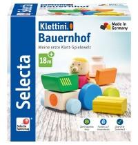 Schmidt Spiele - Selecta - Bauernhof, Klett-Stapelspielzeug, 7 Teile