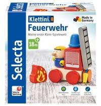Schmidt Spiele - Selecta - Feuerwehr, Klett-Stapelspielzeug, 7 Teile