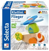 Schmidt Spiele - Selecta - Flieger, Klett-Stapelspielzeug, 5 Teile